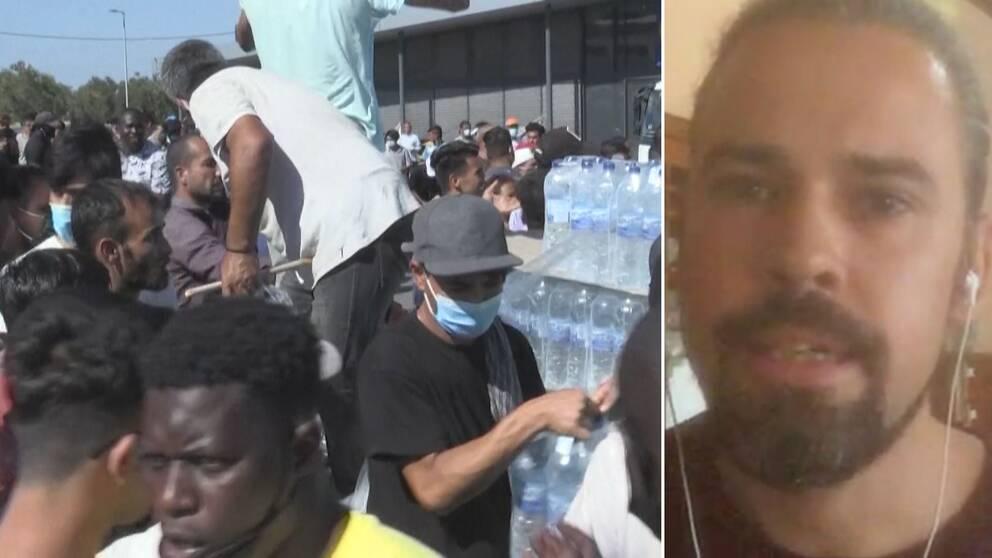 """""""Situationen har blivit betydligt värre"""" berättar Andreas Fransson, ST-läkare, som arbetar på Lesbos."""