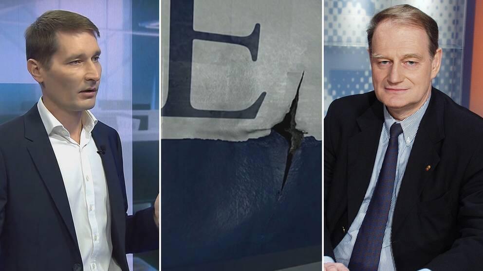 Margus Kurm, estonisk fd Estonia-utredare och Sveriges fd försvarsminister Anders Björk