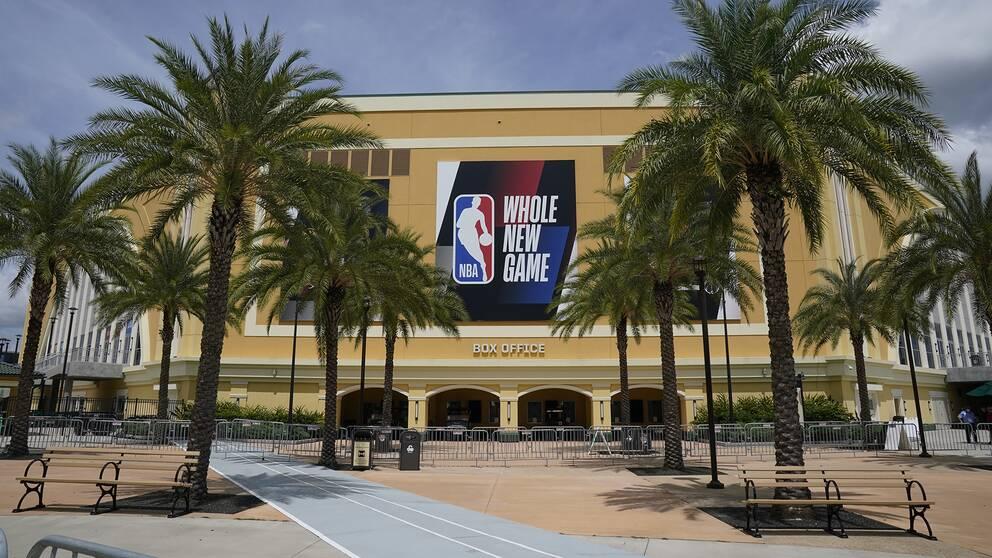 En arena i NBA:s bubbla i Disney World, Florida.