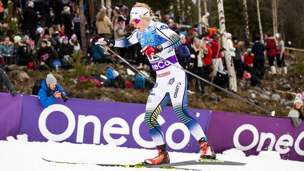 Jonna Sundling under världscupen i Lillehammer 2018.