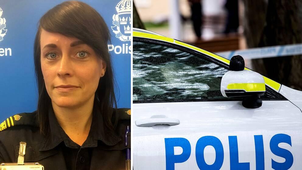 Hanna Rolinder, förundersökningsledare vid polisen i Medelpad.