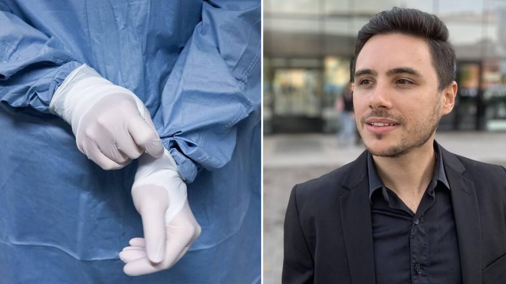 Luis Fernando Irgang dos Santos är doktorand vid Högskolan i Halmstad och Regional University of Blumenau i Brasilien.Han har undersökt både hur vården funkar både i sitt hemland och i Sverige.