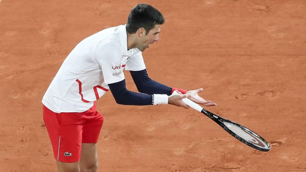 Novak Djokovic under Franska öppnas kvartsfinal.