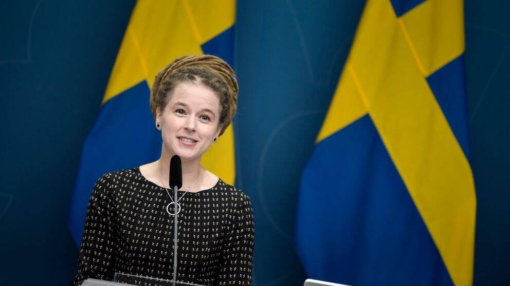 Bilden visar Kultur- och demokratiminister Amanda Lind (MP).