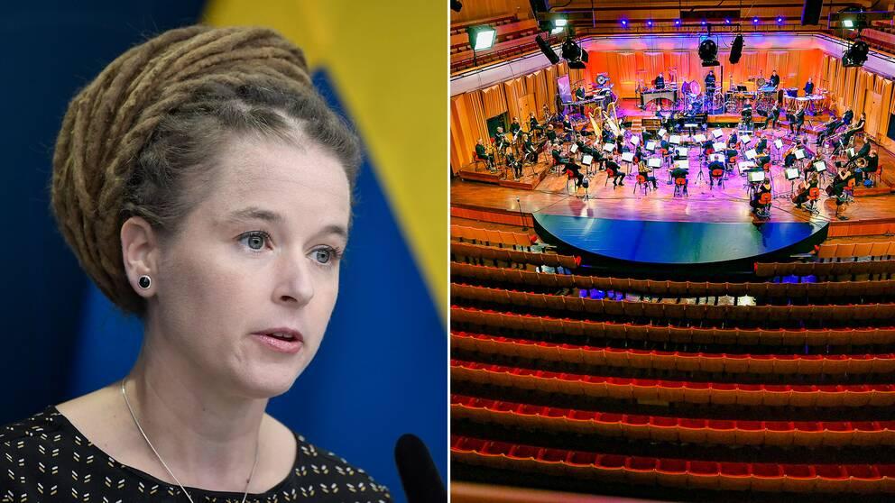 Fortsatt strama publikrestriktioner kommer att gälla i kulturbranschen, meddelade kulturminister Amanda Lind (MP) under torsdagen.