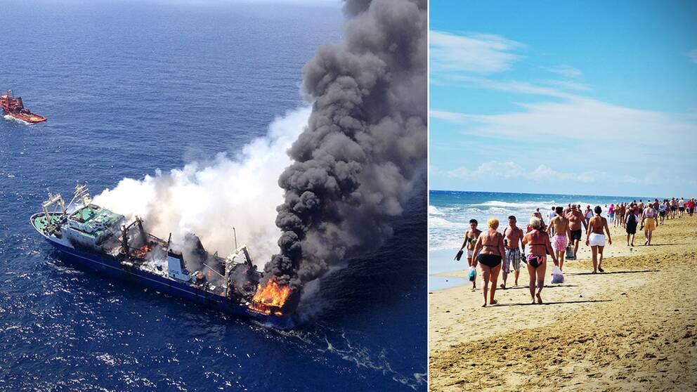 Oljeläcka Hotar Kanarieöarna Svt Nyheter