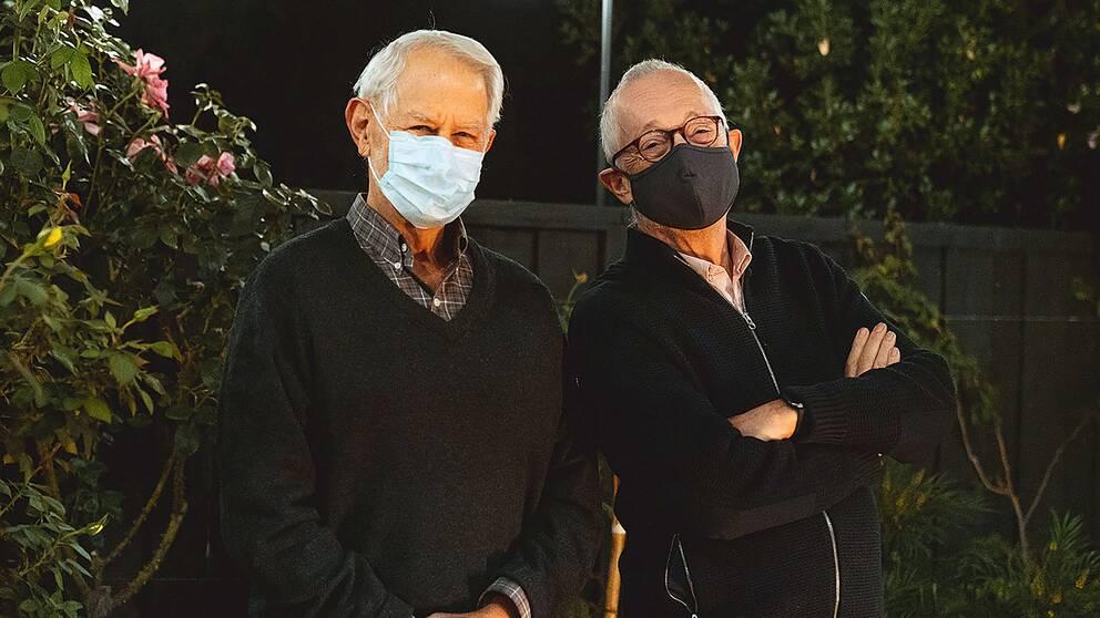 Robert Wilson till vänster och Paul Milgrom till höger.