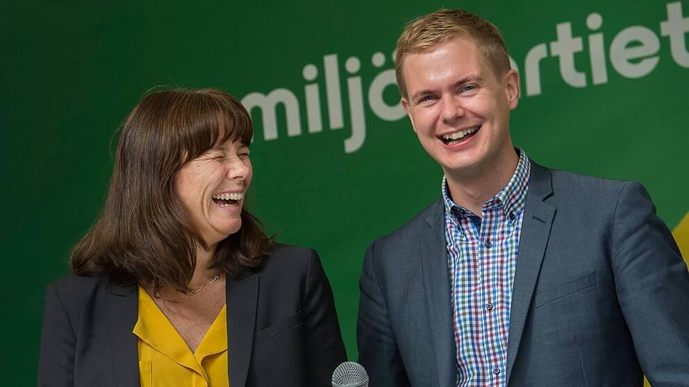 MP med Åsa Romson och Gustav Fridolin i spetsen toppar stödet för i år.