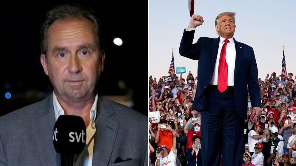SVT:s USA-korrespondent Stefan Åsberg: Donald Trump älskar de här sammanhangen – han är en underhållare