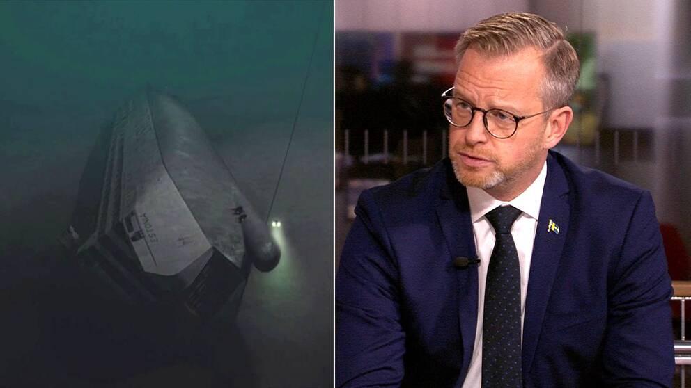 Inrikesminister Mikael Damberg (S) utesluter inte nya dykningar vid Estonia.
