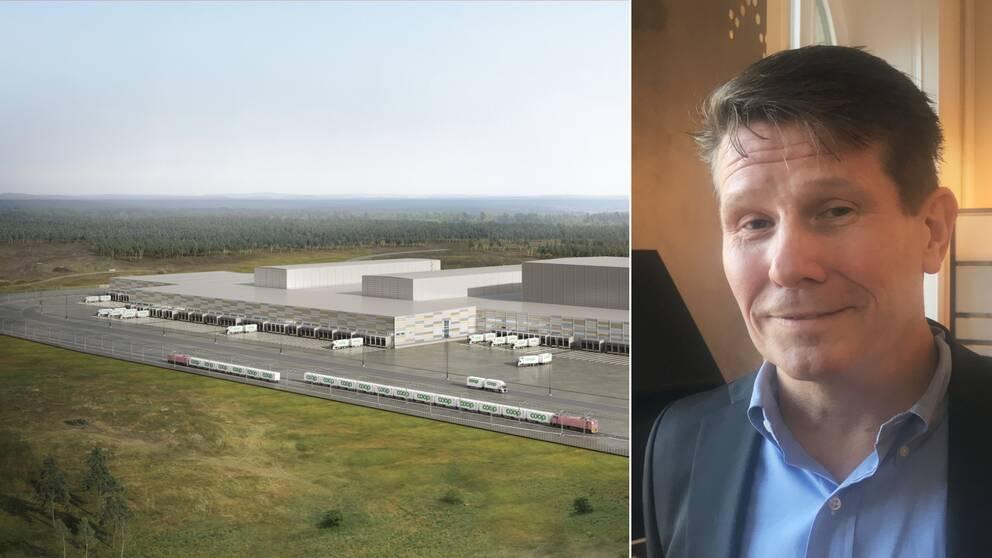 Coop är i färd med att bygga ett nytt lager i Eskilstuna logistikpark. Hör Örjan Grandin, vd för Coop logistik, berätta varför företaget valde just Eskilstuna.