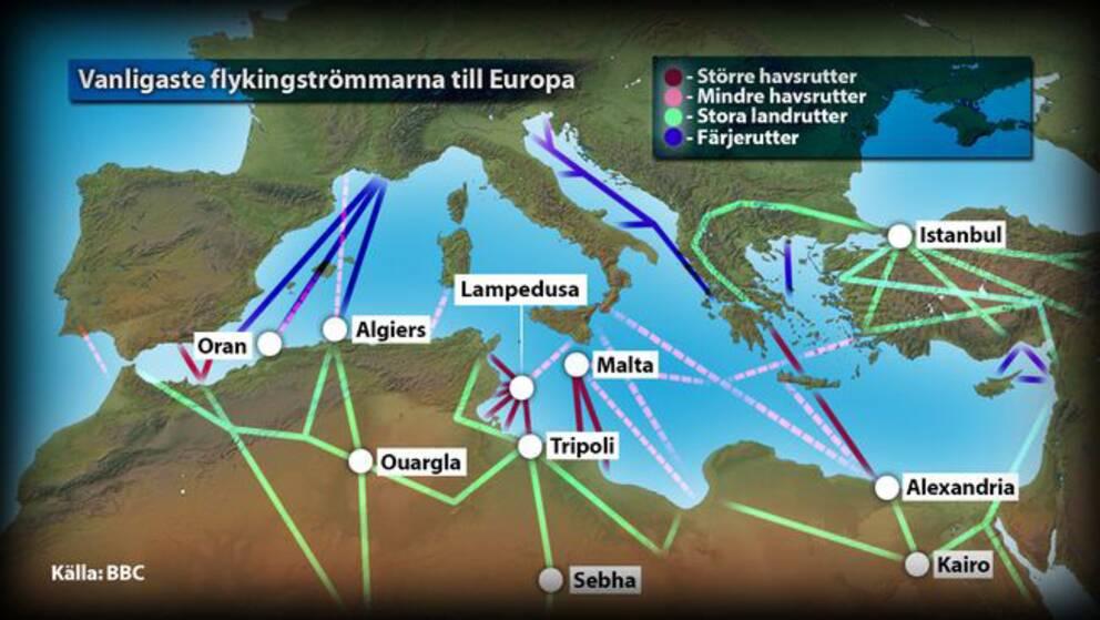 Migrantkatastrof i medelhavet