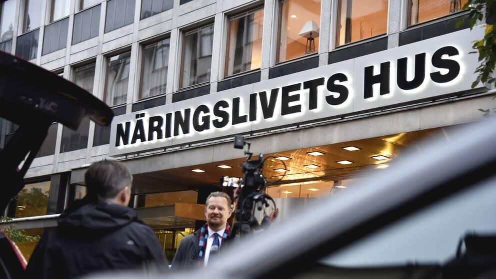 Svenskt Näringslivs kontor på Storgatan i Stockholm.