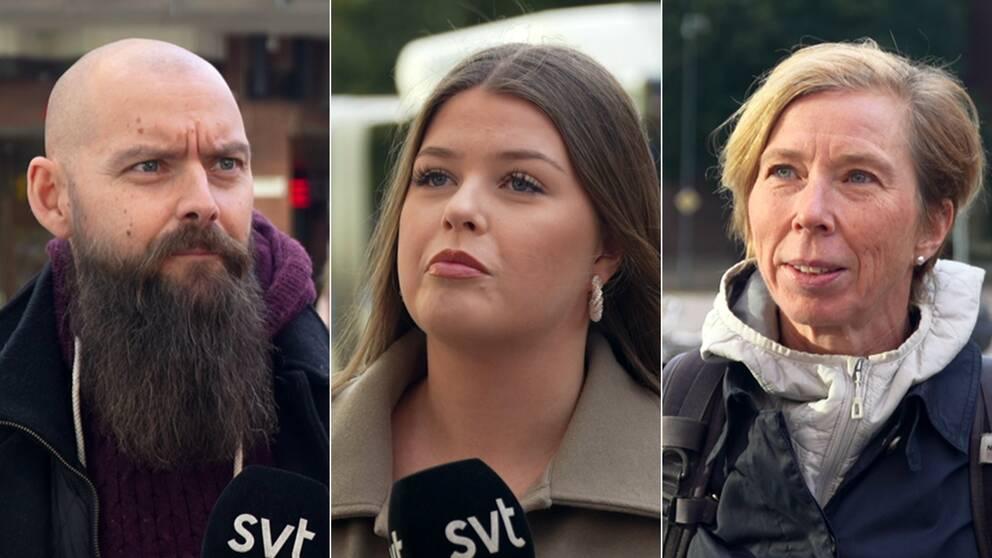 Jonas Andersson, Moa Wientorp och Eva Gustavsson berättar om hur deras konsumtion ändrats under coronan.