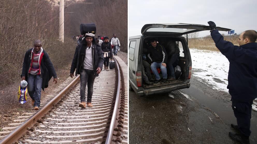 Vägen till EU genom bland annat Makedonien och Serbien anses vara säkrare än att ta sig över Medelhavet.