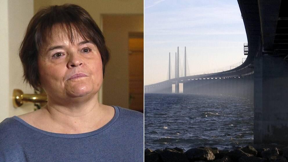 Pia Jacobsen och Öresundsbron