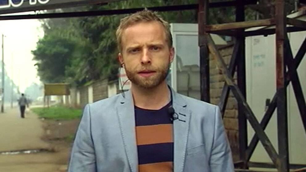 SVT:s reporter i Afrika, Johan Ripås. Foto: SVT