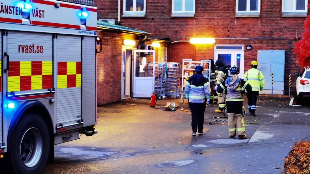 Branden inträffade på äldreboendet Östergården.