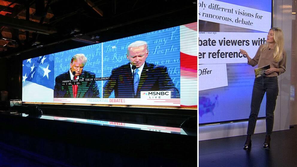 Debatten på en tv-skärm