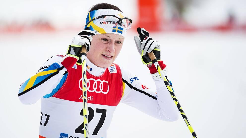 Helene Söderlund under Tour de Ski 2015.