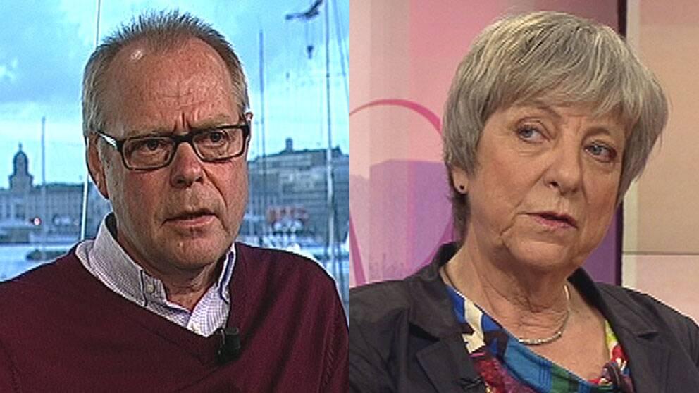 Johan Perssons pappa Kjell och Martin Schibbyes mamma Karin.