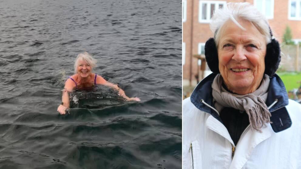 Eva Ljungcrantz i Karlskrona badar varje dag – oavsett väder.