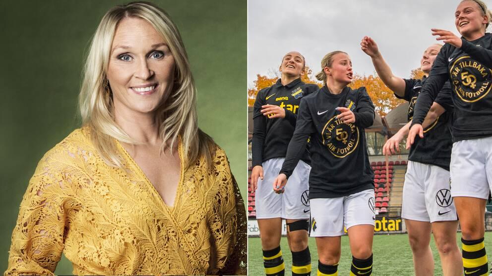 Frida Östberg är glad över att se resultatet från AIK:s satsning.
