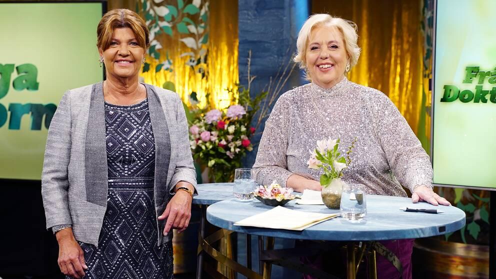 Karin Granberg och Suzanne Axell i Fråga doktorn.