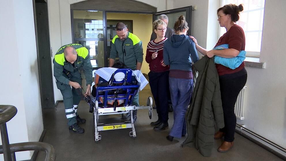 Ambulandpersonal i Valdemarsvik