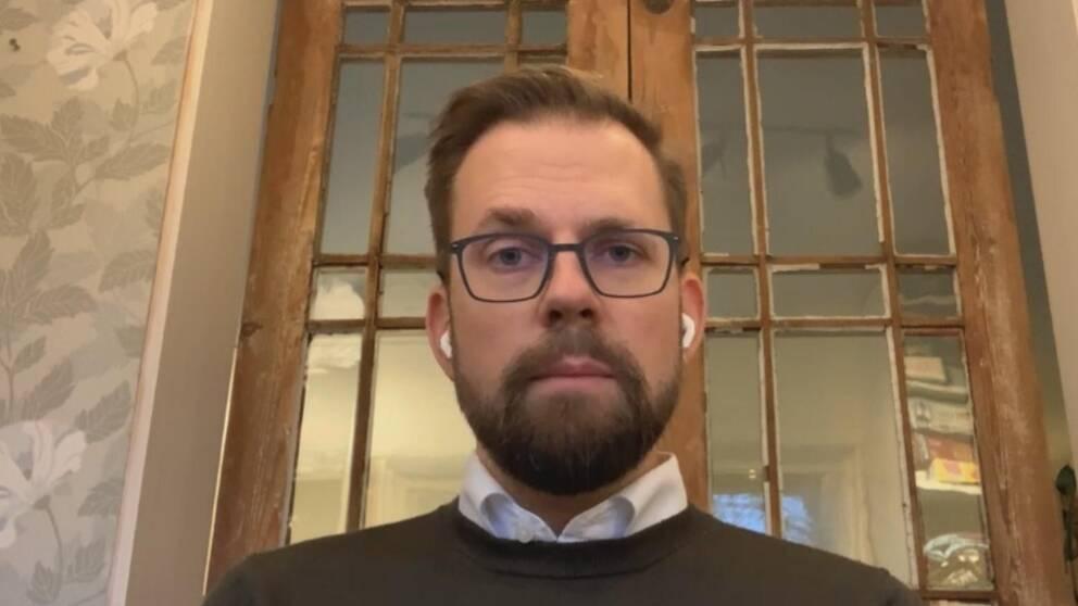 Martin Willén under en intervju via Skype.