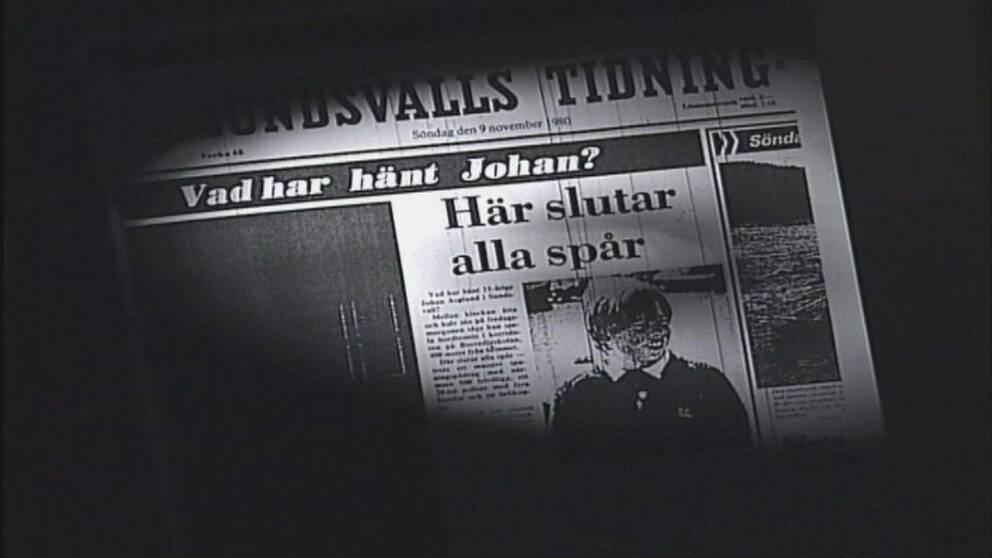 Sundsvalls Tidnings förstasida söndagen den 9 november 1980.
