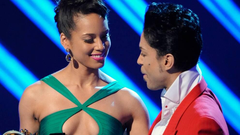 Alicia Keys och Prince.