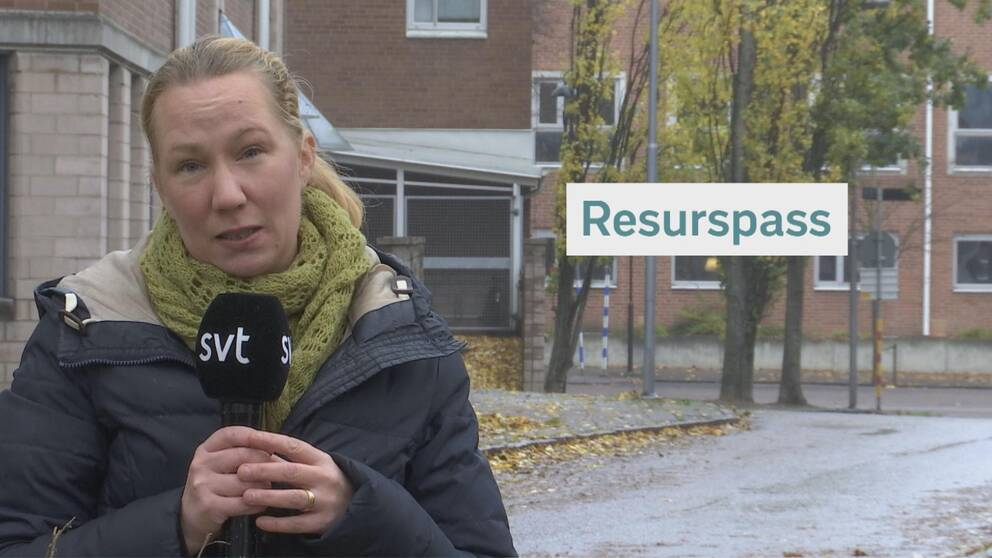 Reporter Ida Röök Svalander och grafik.