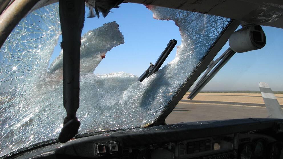 Flygplan krockade med helikopter fyra doda