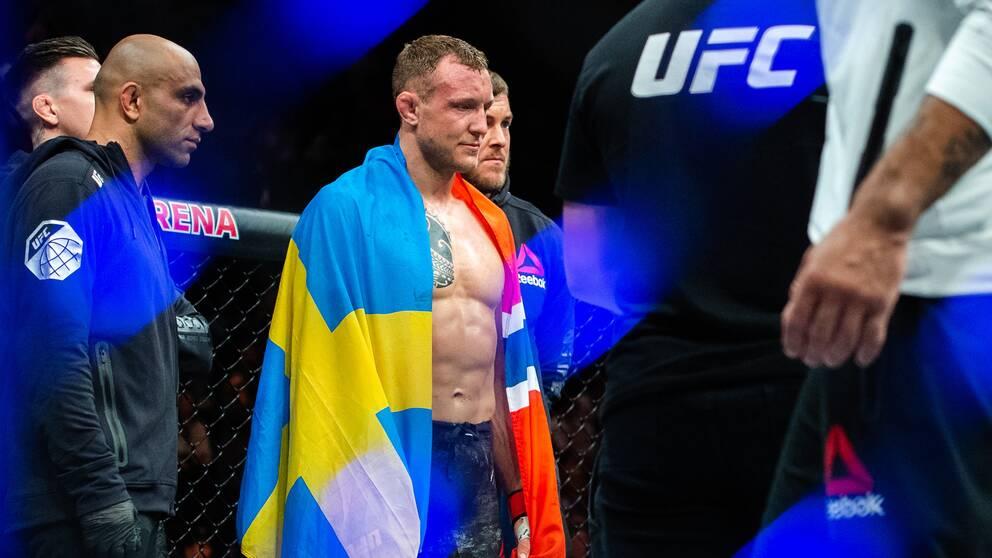 Jack Hermansson efter en UFC-match i Köpenhamn förra året.