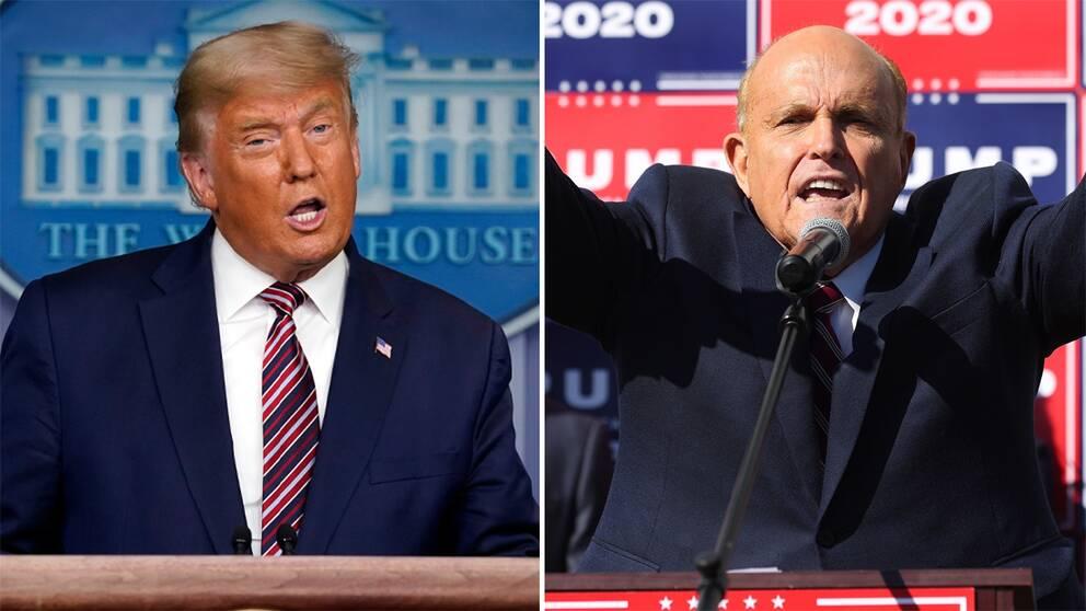 Donald Trump och hans advokat Rudy Giuliani.