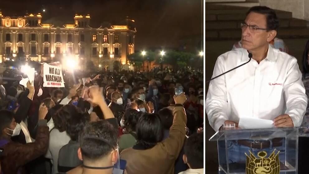 Perus president Vizcarra avsattes under måndagen.