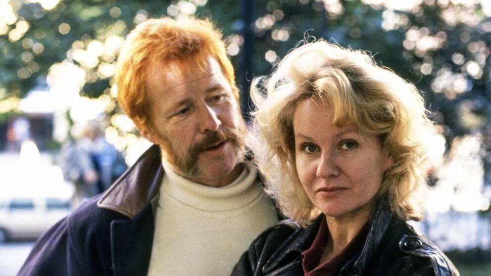 Sven Wollter tillsammans med tidigare partnern Viveka Seldahl.