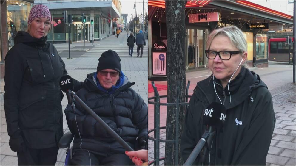Folk på storgatan i Luleå.