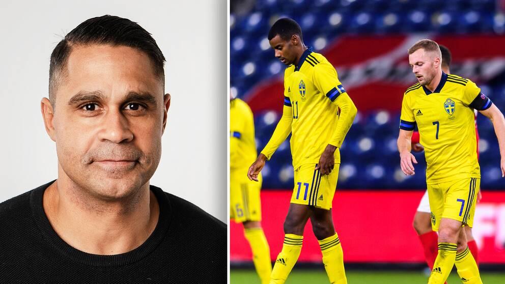 Daniel Nannskog tycker att Sveriges insats mot Danmark var underkänd.
