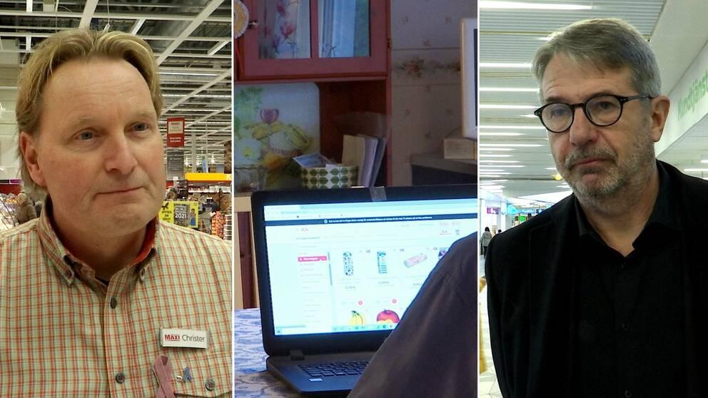 E-handeln har ökat under pandemin. Den största ökningen finns inom dagligvaruhandel. I klippet berättar Christer Johansson, Ica, och Klas Olsson, Coop, om ökningen.