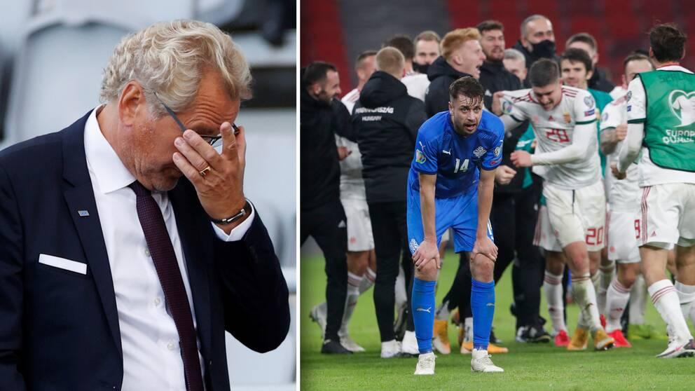 Erik Hamréns Island missar EM efter Ungerns sena vändning i playoff-matchen.
