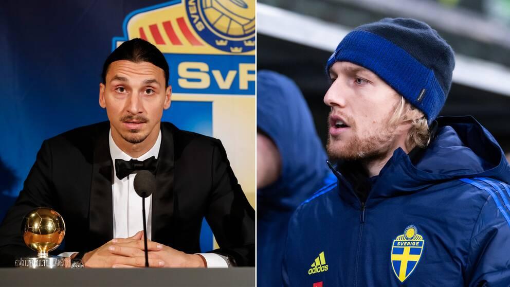 Emil Forsberg anser att Zlatan Ibrahimovic ska ha guldbollen i år.