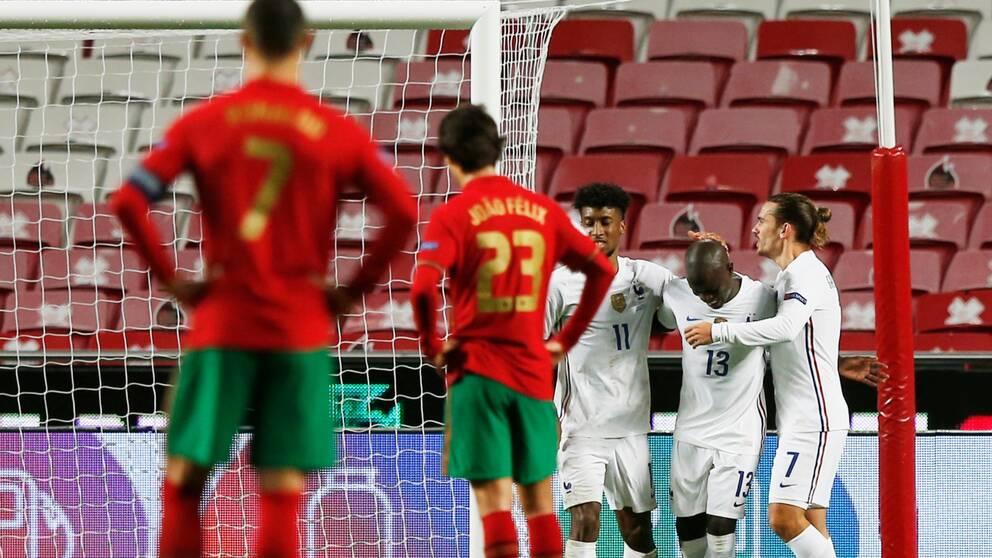 Frankrike besegrade Portugal i Nations League.