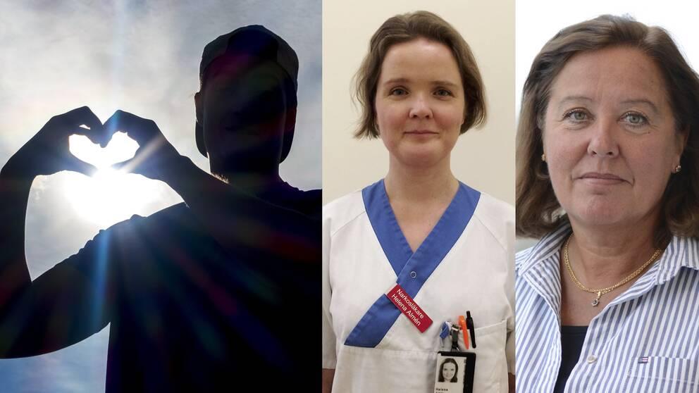 Ställ dina frågor om organdonation till Helena Almén och Agneta Holmström på Nationellt Donationscentrum på Socialstyrelsen.