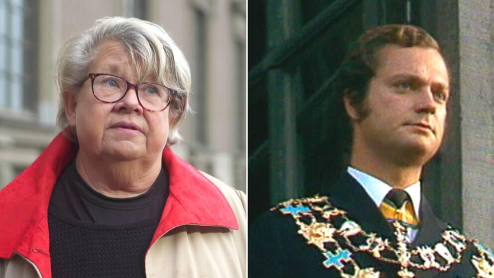 Karin Lennmor och kung Carl XVI Gustaf.