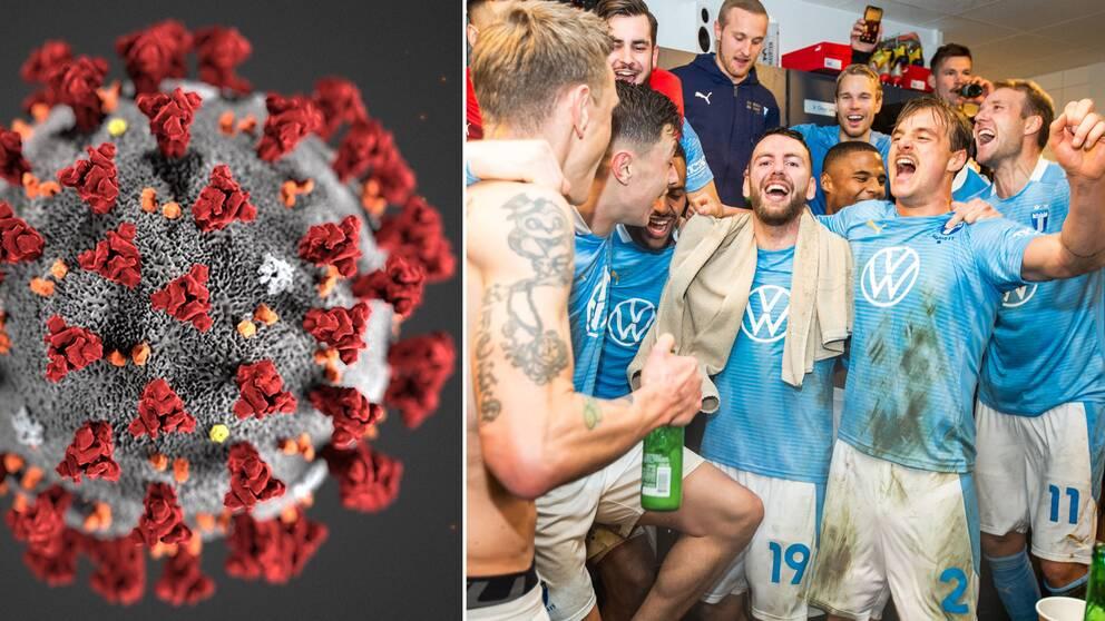 Coronaviruset och Malmö FF:s firande efter SM-guldet.