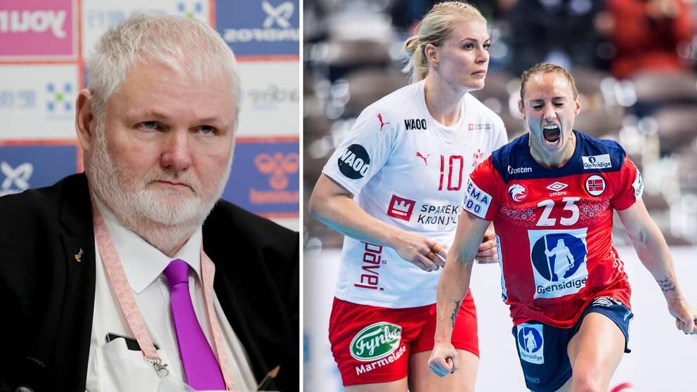 Per Bertelsen, ordförande i det danska handbollsförbundet, tror att de kan meddela ett EM-besked i slutet av den här veckan.