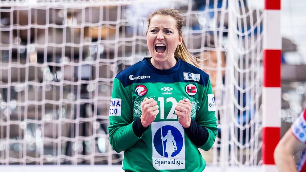 Norska målvakten Silje Solberg under VM förra året.