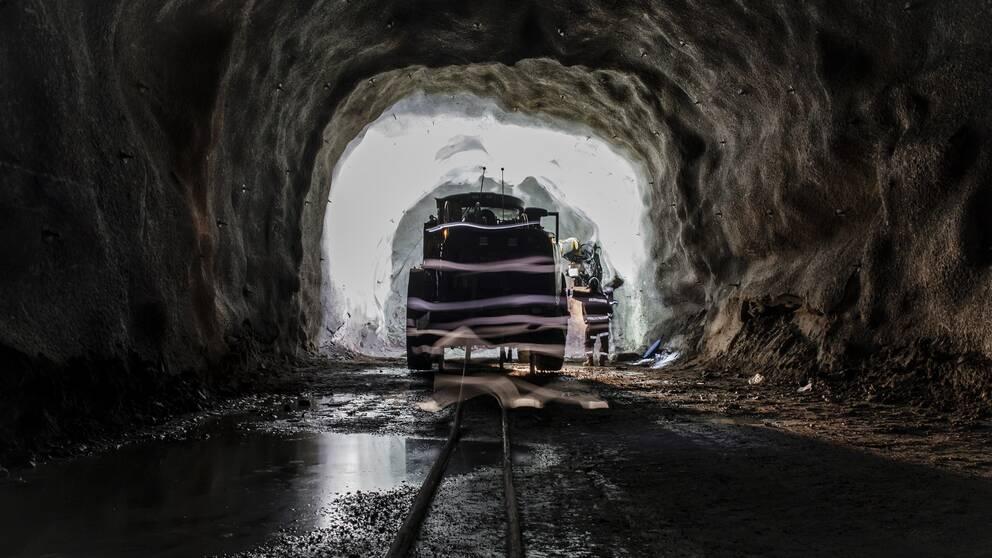 Interiör från LKAB:s gruva i Malmberget. Arkivbild.